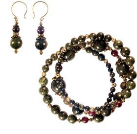 Spiral bracelet with earrings (set)
