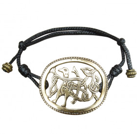 "Cord bracelet ""Bird with intertwined tail"""