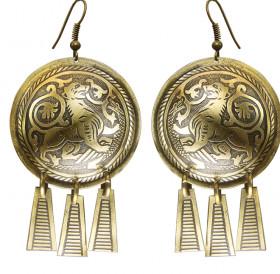 """Noisy earrings """"Suzdal lion"""""""