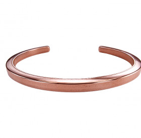 Square bracelet No. 1. 4 X 4 mm Copper