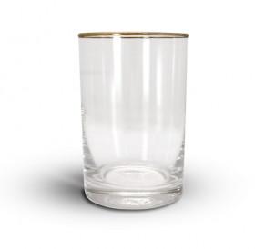 Стакан для подстаканника (250 гр., стекло, отводка золотом)