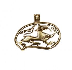 """Slotted pendant """"Lut-beast"""""""