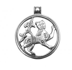 """Slotted pendant """"Mighty lion"""""""