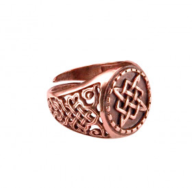 "Patterned ring ""Svarog Square"""