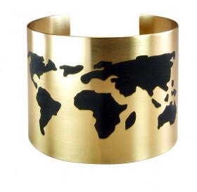 "Bracelet ""Map of the world"". Width 50 mm"