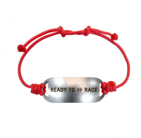 Bracelet-lace «READY TO >> RACE»