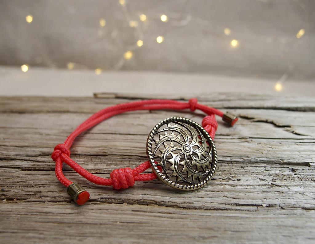 """Bracelet-lace """"Left-sided fiery Kolovrat"""""""