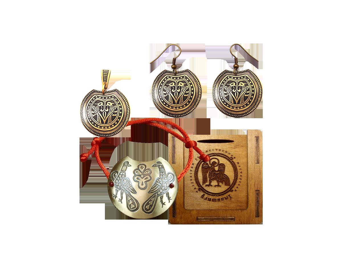 "Jewelry set ""Lovat"" in a gift box."